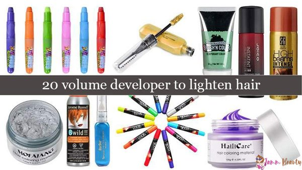 20 volume developer to lighten hair