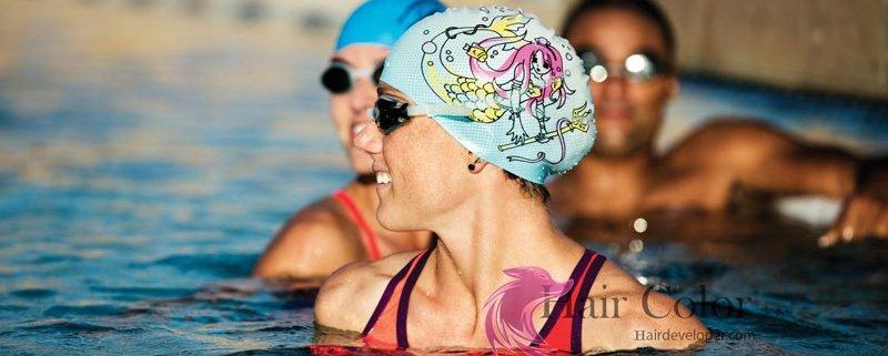 Swimming caps help prevent lice